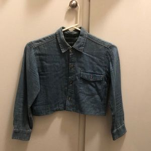 Reformation - Denim Crop top